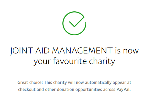JAM is now your favorite charity