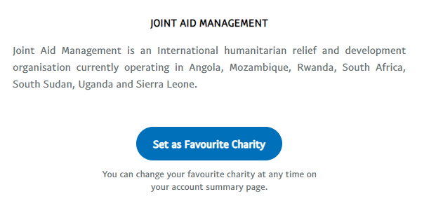 Set as Favourite Charity